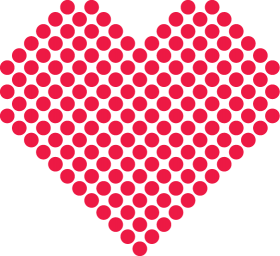 Red Points Heart PNG