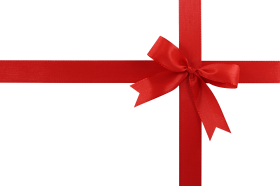 red ribbon for small gift PNG