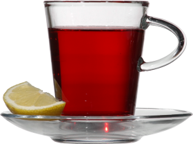 Red Tea with Lemon PNG