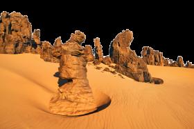 Rocky Sight on Sand PNG