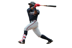 Ronald Acuna Jr batting PNG
