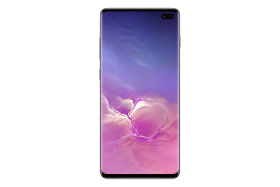 Samsung Galaxy S10 Ceramic Black Front PNG