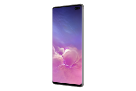 Samsung Galaxy S10 Ceramic Black Side PNG