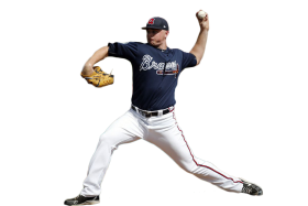 Sean Newcomb Throwing a Ball PNG