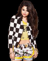 Selena Gomez Black White PNG