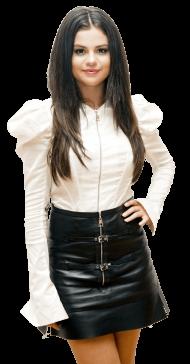 Selena Gomez White Black PNG