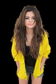 Selena Gomez Yellow PNG