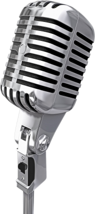 Silver HQ Microphone PNG