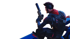Sitting With a Gun Fortnite Thumbnail Template PNG