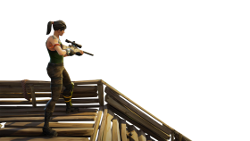 Sniper on Stairs Fortnite Thumbnail Template PNG