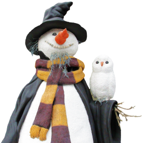 Snowman with Bird PNG