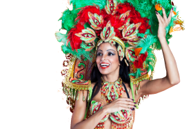 South American Carneval Dancer PNG