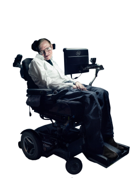 Stephen Hawking in Wheelchair PNG