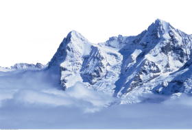 Ice-covered Swiss Alps PNG