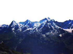 Icy Swiss Alps PNG