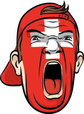 Yelling Swiss Face PNG