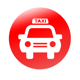 Taxi Circle Icon PNG