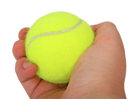 Tennis Ball in Hand PNG