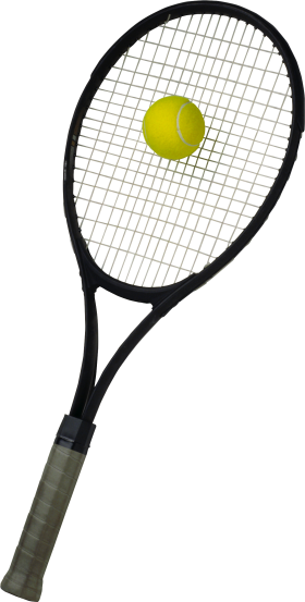 Tennis Racket with ball PNG