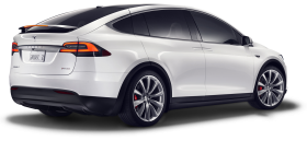 Tesla Model X from side PNG