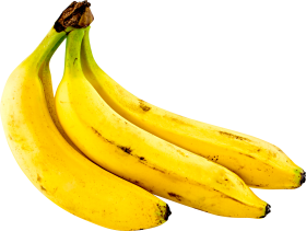 Three Bananas PNG