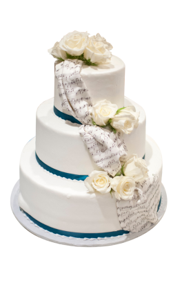 Three layered White Cake PNG