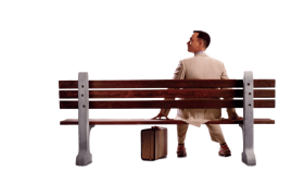 Tom Hanks Sitting on Bank PNG