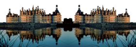 Mirrored Image of a Castle PNG