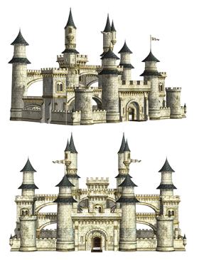 Twin Castles  PNG