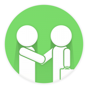 Two Business man Handshake PNG