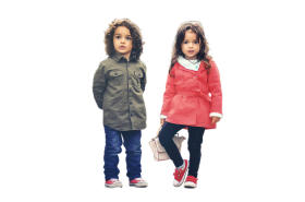 Two Cute Kids PNG