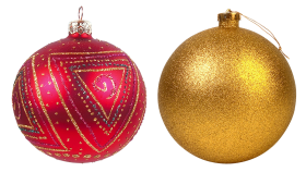 Two Decorated Christmas Bauble PNG