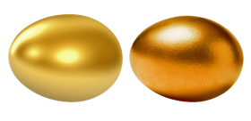 Two Golden Eggs PNG