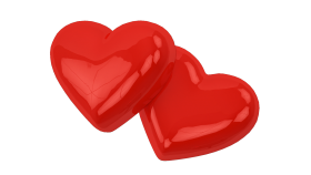 Two Love Hearts PNG