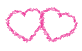Two Pink Hearts PNG