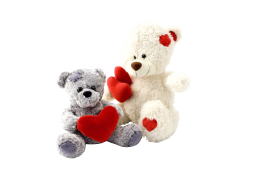 Two Teddy Bears gift PNG