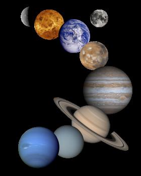 Unique Solar System PNG