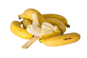 Unpeeled and Peeled Bananas PNG
