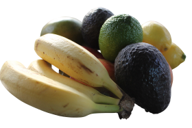 Unpeeled Mixed Fruits PNG