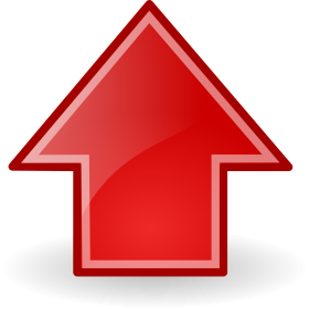 Upload Icon In Red Color PNG