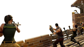 Fighting Fortnite Youtube Thumbnail Template PNG