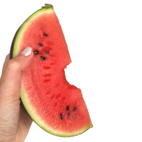 Watermelon in a Hand PNG