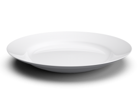 White Basic Plate with shadow PNG