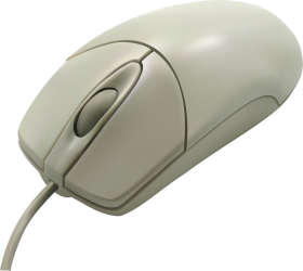 White Computer Mouse PNG