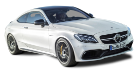 White Mercedes AMG C63 S Coupe Car PNG PNG