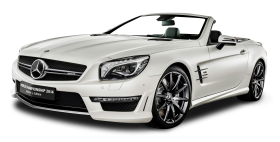 White Mercedes AMG SL63 Car PNG
