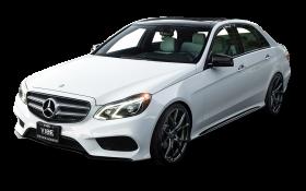 White Mercedes Benz E Class Car PNG