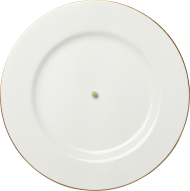 White Plate with Golden Frame PNG