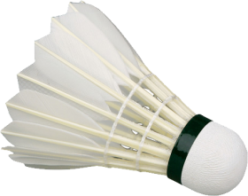 White Shuttlecock / featherball PNG