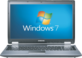 Window 7 installed on Laptop PNG